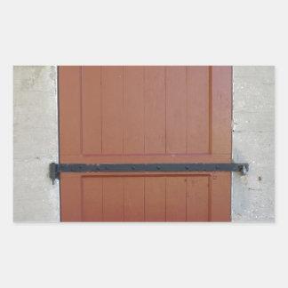 Red Door Rectangular Sticker