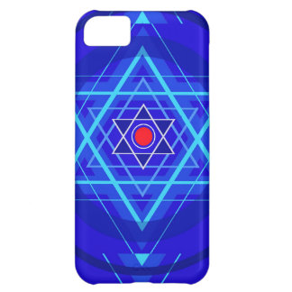 Red dot and the bluish Jewish Stars. iPhone 5C Cases