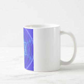 Red dot and the bluish Jewish Stars. Coffee Mug