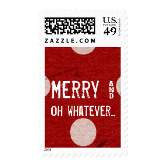 Red Dot Funny Ironic Christmas Postage Stamps