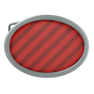 Red Dot Stripe Oval Buckle Oval Belt Buckle