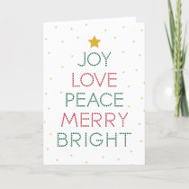 Red Dot Typography Christmas Greeting Holiday