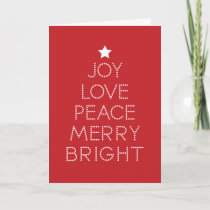 Red Dot Typography Christmas Greeting Holiday Card