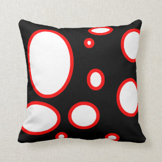 red dot white throw pillow