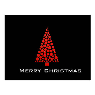 Red Dots Christmas Tree Postcard