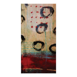 Red Dots & Circles Painterly Perfect Poster
