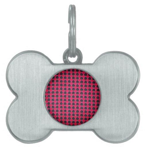 Red-dots-pattern668 BLACK HOT PINK POLKADOT PATTER Pet Tag