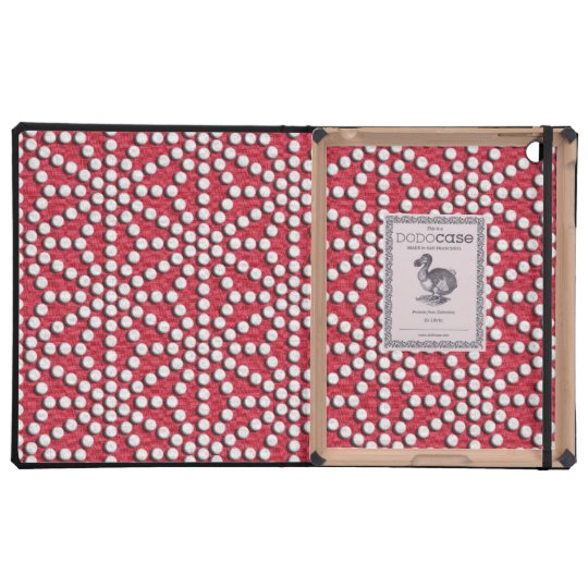 Red dotted Kamishimo japanese pattern iPad Cases