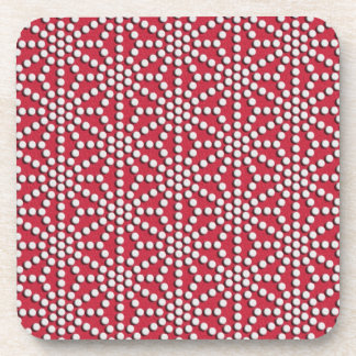 Red dotted Kamishimo pattern Coaster