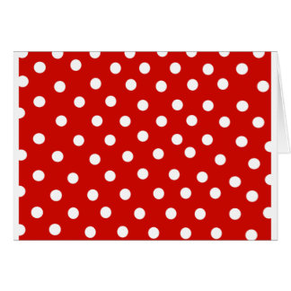 Red dotting card