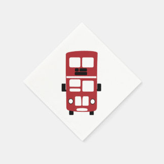 Red double decker bus Cocktail Napkin