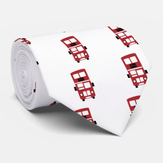 Red double decker bus custom tie