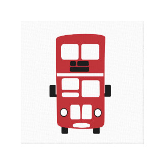 Red double decker bus custom wrapped canvas
