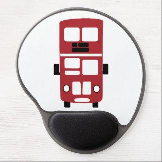 Red double decker bus gel mousepad