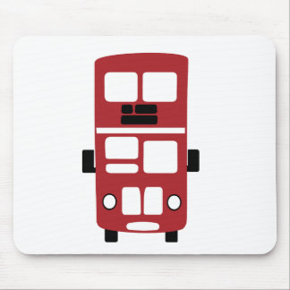 Red double decker bus mousepad