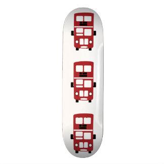 Red double decker bus Skateboard