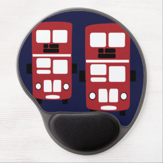 Red double decker buses gel mousepad
