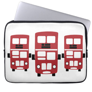 Red double decker buses laptop sleeve