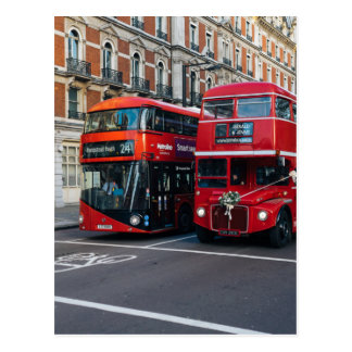 Red Double Decker Buses Postcard