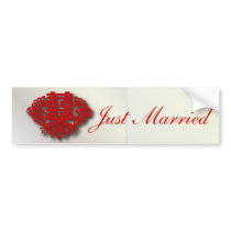 Red double happiness Chinese Wedding Bumper Sticker
