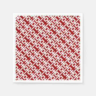 Red Double Happiness Chinese Wedding Paper Napkin