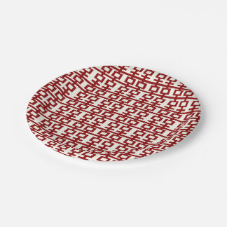 Red Double Happiness Chinese Wedding Paper Plates
