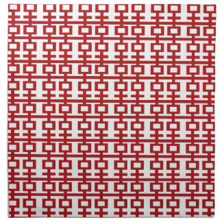 Red Double Happiness Pattern Chic Chinese Wedding Napkin