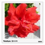 Red Double Hibiscus Flower Wall Decal