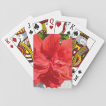 Red Double Hibiscus Playing Cards
