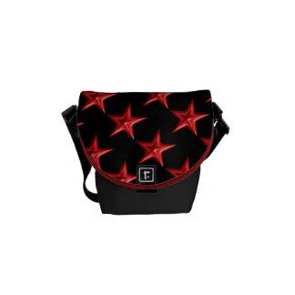 Red Double Stars Messenger Bag