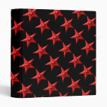 Red Double Stars Vinyl Binder