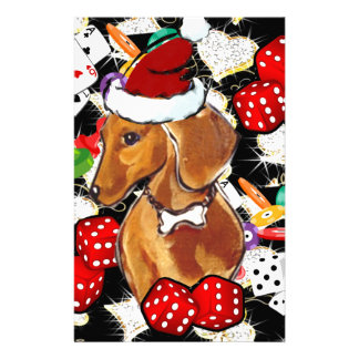 RED DOXIE BLING STATIONERY DESIGN