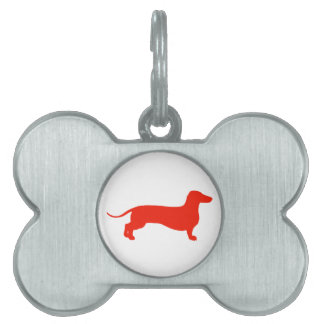 Red Doxie Pet Name Tag