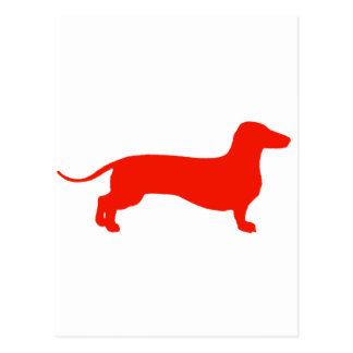 Red Doxie Postcard