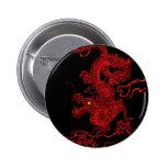 Red Dragon 2 Inch Round Button