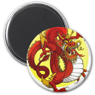 RED DRAGON 2 INCH ROUND MAGNET