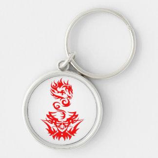 Red Dragon 2 tattoo Keychain