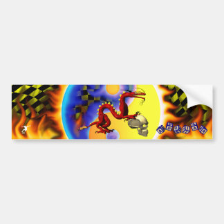 Red Dragon 2 with your name in toy blocks Bumper Sticker