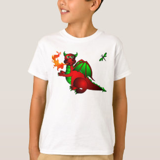 Red Dragon and Dragonfly T-Shirt
