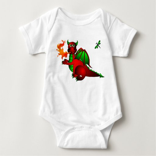 Red Dragon and Dragonfly Tshirts
