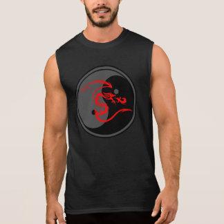 Red Dragon and Yin Yang Design 2 Sleeveless Shirt