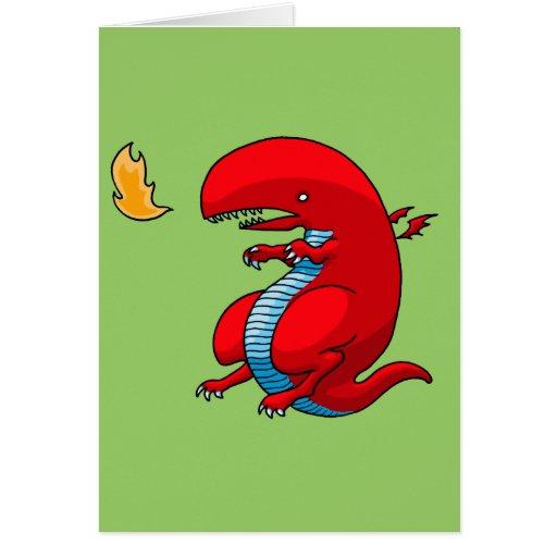 Red Dragon Art by Third Rail Design Labs Greeting Card