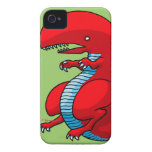 Red Dragon Art by Third Rail Design Labs iPhone 4 Case