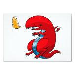 Red Dragon Art by Third Rail Design Labs 3.5x5 Paper Invitation Card