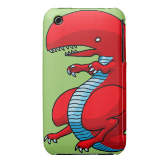 Red Dragon Art by Third Rail Design Labs iPhone 3 Case-Mate Case