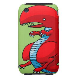 Red Dragon Art by Third Rail Design Labs iPhone 3 Tough Case