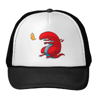 Red Dragon Art by Third Rail Design Labs Mesh Hat