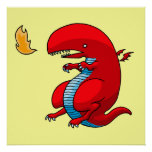 Red Dragon Art by Third Rail Design Labs Posters