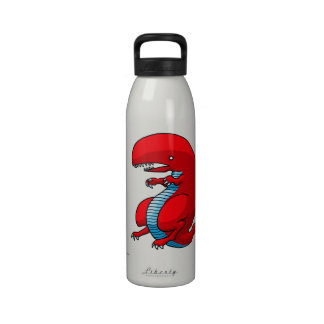 Red Dragon Art by Third Rail Design Labs Drinking Bottle
