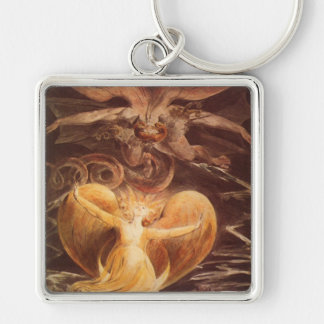 Red Dragon Art William Blake Keychain